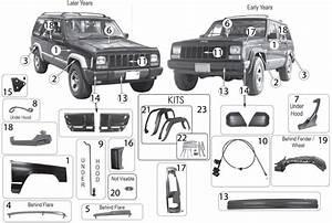 Jeep Cherokee Xj Exterior Body Parts   U0026 39 84