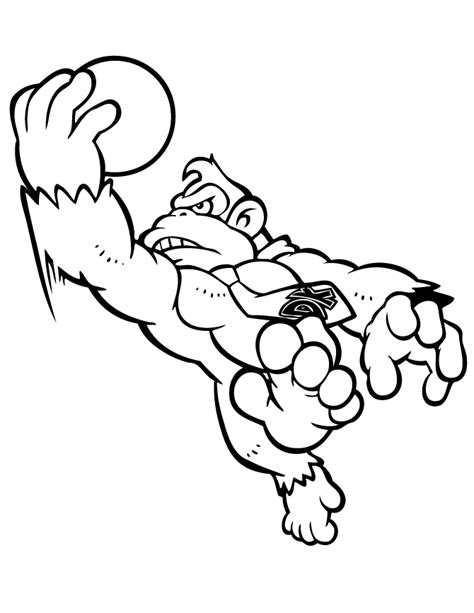 donkey kong coloring pages    print