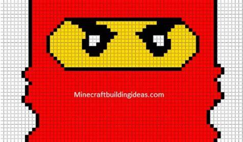 coloriage pixel art  imprimer gratuit red ninjago perler