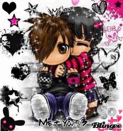 Cute Emo Couples Cartoons