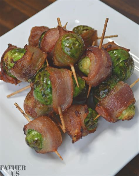 bacon sprouts air wrapped brussels fryer maple glaze