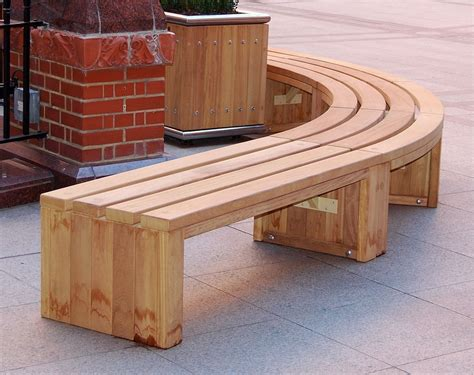 wooden benches for curved wooden bench for garden and patio homesfeed