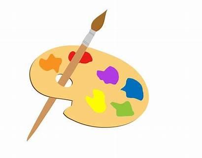 Paint Brush Clipart Palette Clip Artist Domain