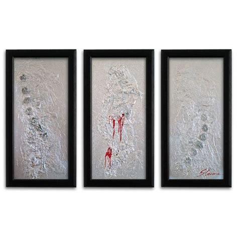 wandbilder modern silber auf leinwand wandbilder slavova art