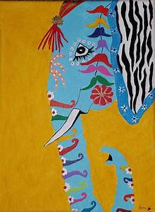 Thai Elephant Painting by Dana Cannetti