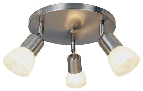 three light canopy 11 ceiling fixture brushed