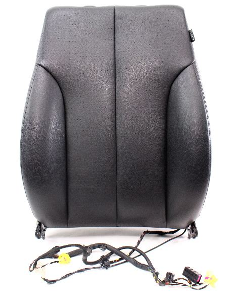 Driver Front Black Vinyl Seat Back Rest Air Bag