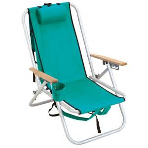 rio aluminum hi back backpack chair turquoise