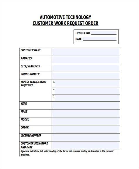 work order templates ai psd  premium templates