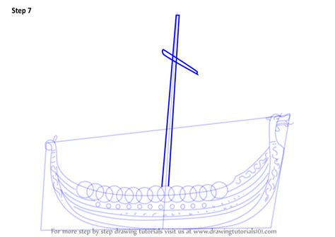 Viking Boat Drawing Easy by Learn How To Draw A Viking Ship Boats And Ships Step By