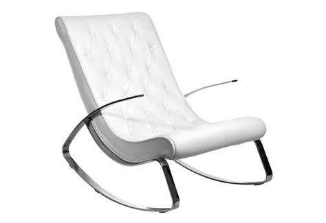 fauteuil a bascule simili cuir acier inox 69x107x91cm j