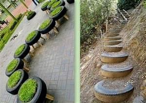 Tire Fond Beton : d coration jardin avec pneu ~ Mglfilm.com Idées de Décoration