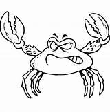 Crab Coloring Angry Disegno Template Fiddler Colorare Fight Bambini Granchio Furioso Sea Crabs Claws Coloringsun Fish Ready Disegni Gratis sketch template