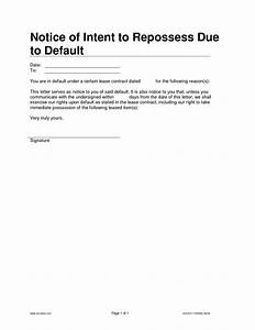 10 best images of llc legal notice template special With notice of default letter template