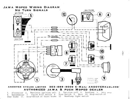 Moped Ignition Switch Wiring Diagram by With Turn Signals Without Signals