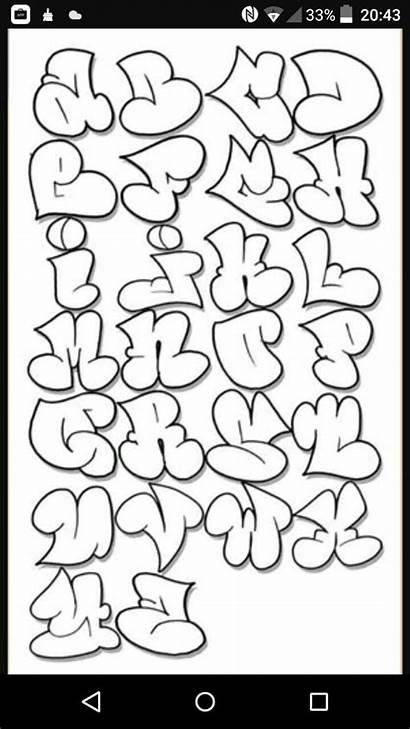 Alphabet Font Cartoon Bubble Graffiti Fonts Letters