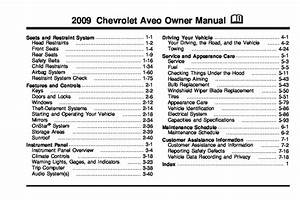 2009 Chevrolet Aveo Owners Manual