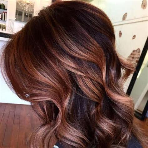 intense dark hair  caramel highlights ideas  women hairstyles