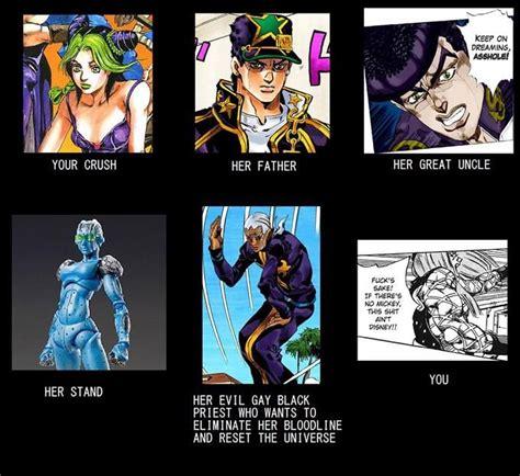 Jojo S Memes - 1105 best jojo s bizarre adventure images on pinterest jojo bizarre jojo memes and jojo
