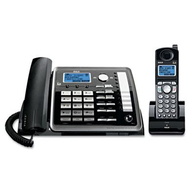 rca phone system rca 25255re2 visys two line corded cordless expandable
