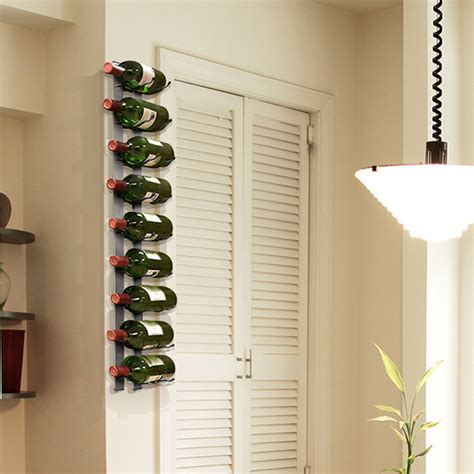 wine rack wall wall mounted wine rack 9 bottles epicureanist touch