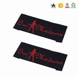Wholesale custom fancy clothing labels woven labels for Garment labels wholesale