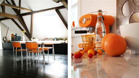 deco cuisine orange inspiration pour une déco orange