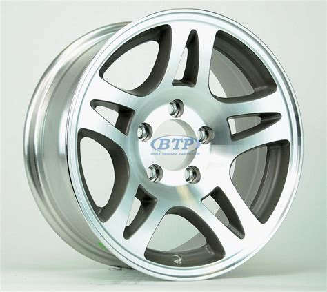 Boat Trailer Wheels Aluminum by Aluminum Boat Trailer Wheel 15 Inch Split Spoke 5 Lug 5 On