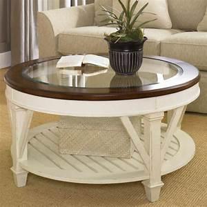 Wohnzimmertisch Glas Holz : couchtisch rund der hingucker in ihrem wohnzimmer ~ Markanthonyermac.com Haus und Dekorationen