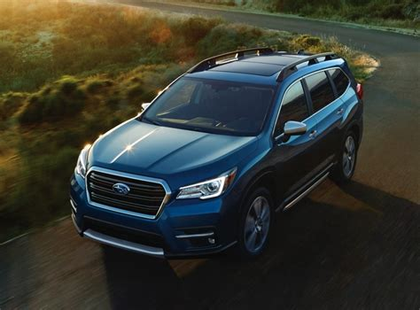 subaru ascent  seater suv officially unveiled