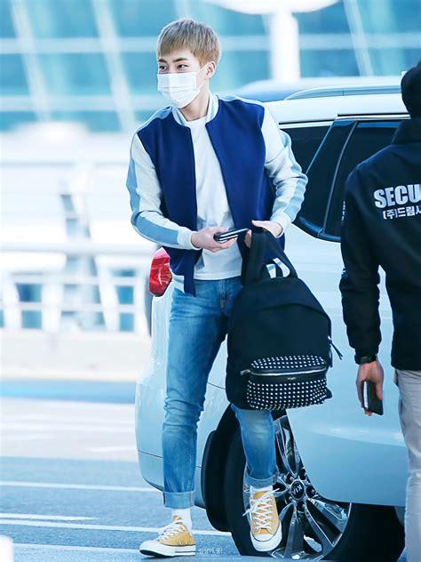 exo jakarta 160226 exo xiumin kim minseok incheon airport to