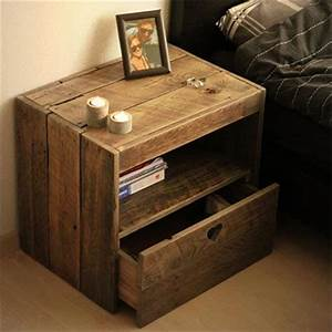 Wooden Pallet Bedside Table with New Ideas Pallets Designs