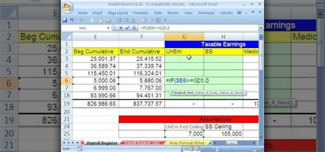 how to calculate payroll in excel 2007 how to calculate