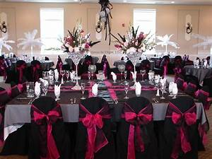 tbdress blog pink and black wedding ideas With black and white wedding ideas reception