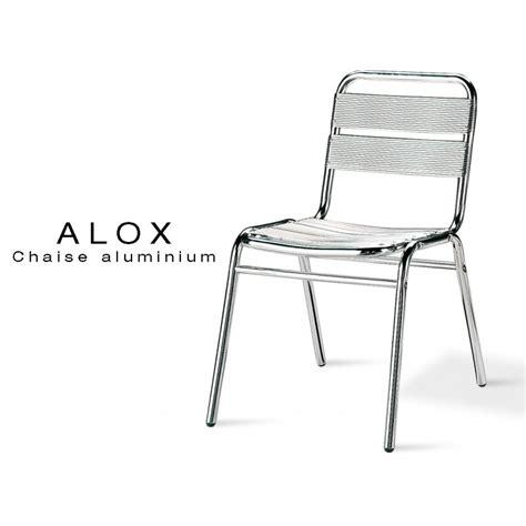 chaise de jardin aluminium chaise aluminium alox pour terrasse de café et jardin