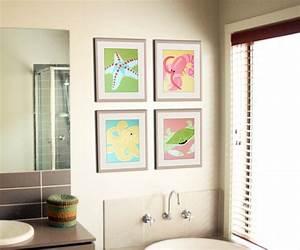 Wandbilder Für Badezimmer : 40 erstaunliche badezimmer deko ideen ~ Markanthonyermac.com Haus und Dekorationen