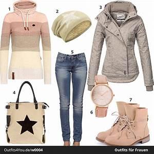 Outfits Damen 2017 : damen winter style in apricot w0004 ~ Frokenaadalensverden.com Haus und Dekorationen