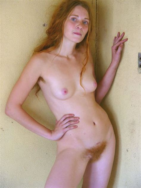 Totally Natural Redhead With Amazingly Blue Eyes Hairy