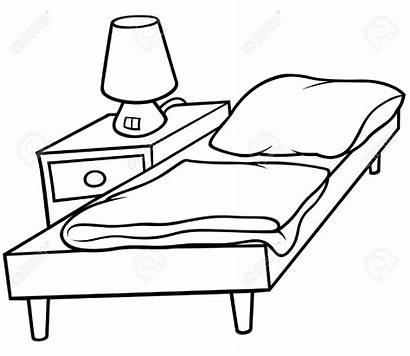 Bed Clipart Cartoon Bedside Bedroom Hospital Bett