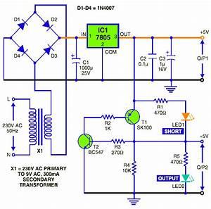 4 6v  9v  12v  Stabilized Dc Power Supply