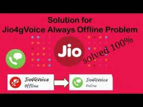 how to fix reliance jio 4g voice offline problem