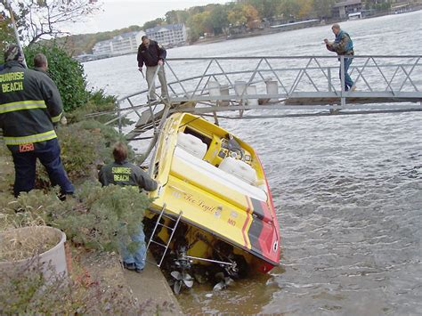 Boat Crash Lake Of The Ozarks 2018 by Riverbills Archives