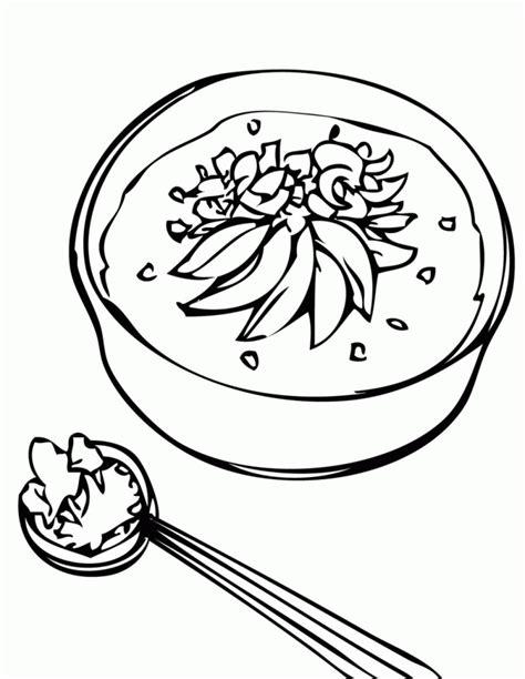 Kleurplaat Kom Soep by Soup Coloring Pages Coloring Home