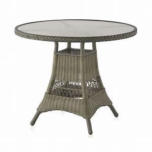 Table De Jardin Ronde : table ronde de jardin 90 cm aluminium et r sine tress e brin d 39 ouest ~ Teatrodelosmanantiales.com Idées de Décoration