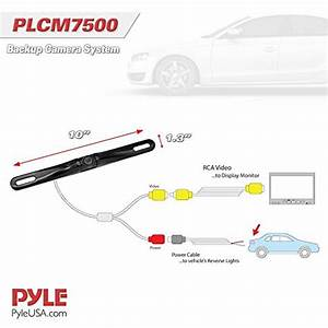Pyle Backup Car Camera Rear View Screen Monitor System