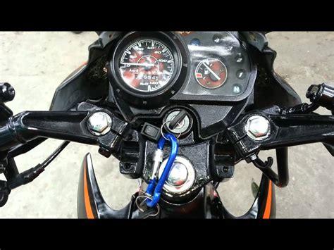 honda xrm 125 converted to monoshock with big bike sound