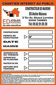 Panneau De Permis De Construire : panneau de permis de construire impression de pvc alv olaire ~ Dailycaller-alerts.com Idées de Décoration