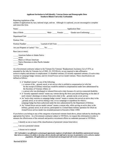 top  veteran  identification form templates