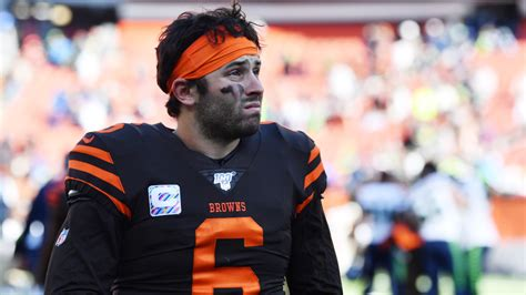 baker mayfield called  bad refs  browns loss