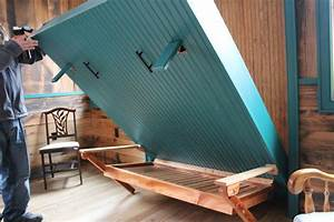 Relaxshacks com: Awesome Homemade Murphy Bed (at Blue Moon
